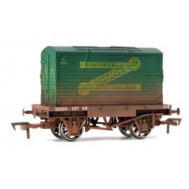 4F-037-002 OO Gauge Conflat & Container SR Weathered