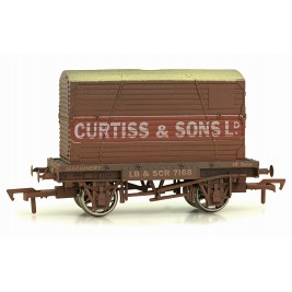 4F-037-109 OO Gauge Conflat & Container Curtiss & Sons Weathered