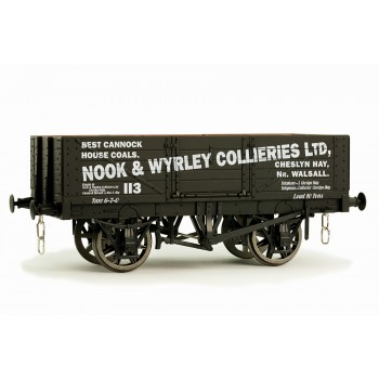 7F-051-014W O Gauge 5 Plank Open Wagon Nook & Wyrley Weathered