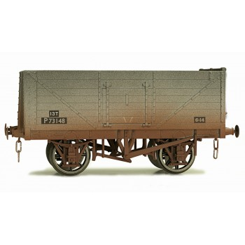 7F-071-002W O Gauge 7 Plank Open wagon  BR # P73148 Weathered