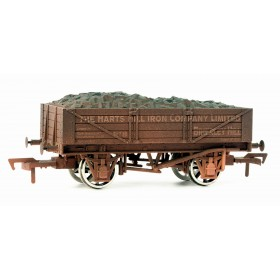 B882W OO Gauge 4 Plank Wagon  Harts Hill Weathered