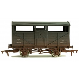 4F-020-014  OO Gauge Cattle Wagon GWR 13828 Weathered