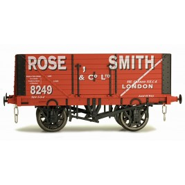 7F-080-016 O Gauge 8 Plank Open Wagon Rose Smith 8249