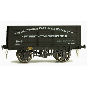 7F-080-017 O Gauge 8 Plank Open Wagon Derbyshire Carriage Works 1945