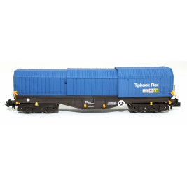 2F-039-009 N Gauge Telescopic Hood Wagon Tiphook Blue 33 70 0899 046-3