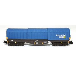 2F-039-011 N Gauge Telescopic Hood Wagon Tiphook Blue 33 70 0899 010-9