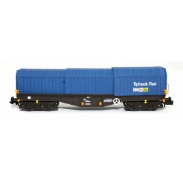 2F-039-012 N Gauge Telescopic Hood Wagon Tiphook Blue 33 70 0899 083-6